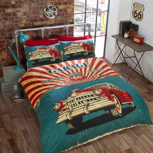 Retro Garage Bedding Multi