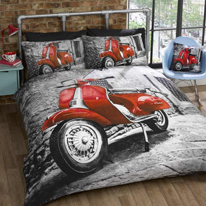Scooter Bedding Red