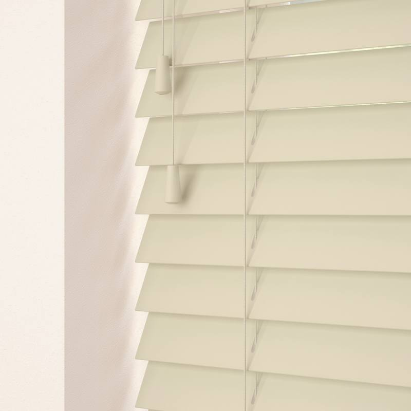 Decora Primary  35mm Primary Wood Venetian Blinds Parchment