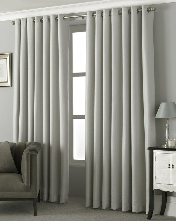 Pendleton Ready Made Eyelet Curtains Silver