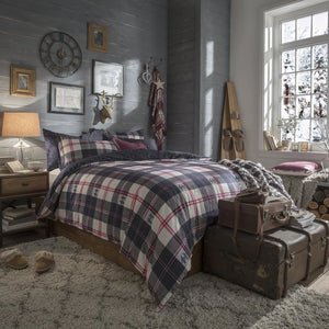FatFace -  Penguin Check Brushed Cotton Bedding Collection Multi