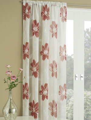 Peony Voile Panel Red