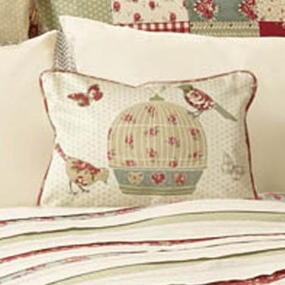 J Rosenthal Cushions And Throws Petticoat Birdcage Boudoir Cushion Red