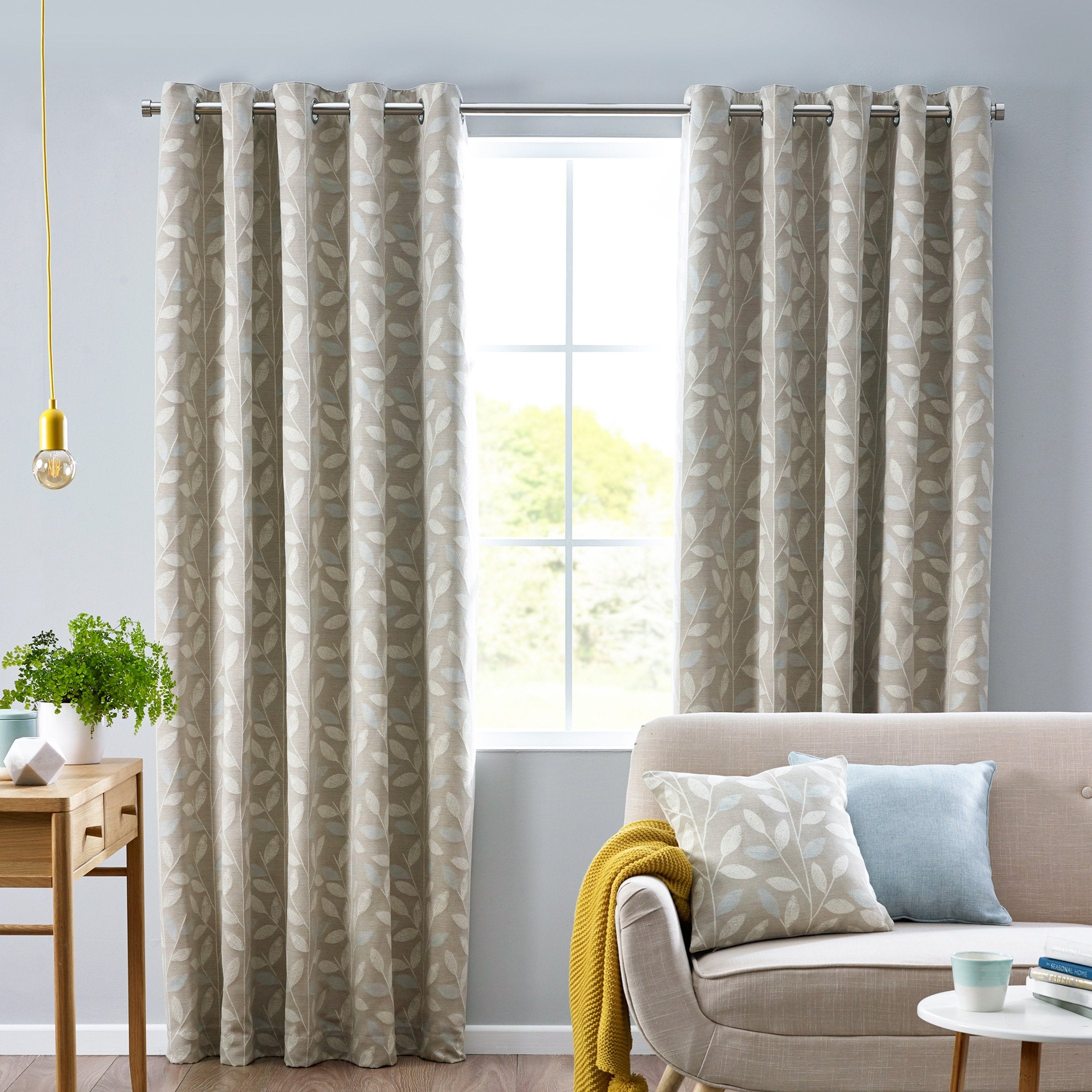 Belfields Ready Made Curtains Pippa Ready Made Eyelet Curtains Duckegg Picture