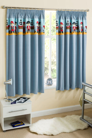 Pirates Readymade Thermal Blockout Curtains Blue