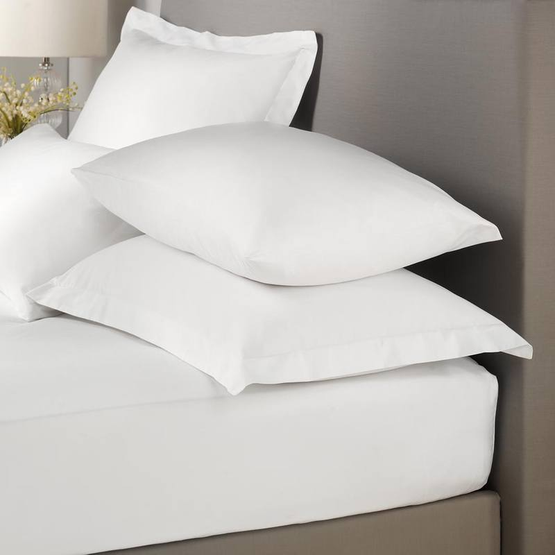 J Rosenthal Bedding Signature Plain Dye Deep Fitted Bed Linen White Picture