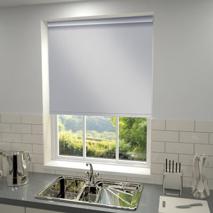Plain Blackout PVC Roller Blind Grey