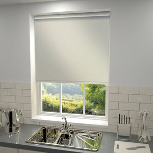 Plain Blackout PVC Roller Blind Linen