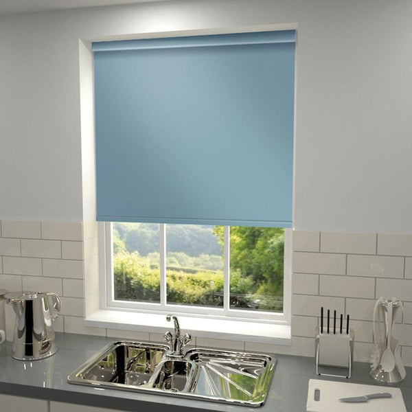 Plain Blackout PVC Roller Blind Topaz
