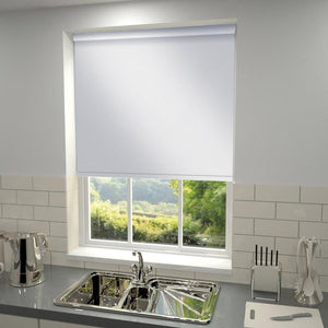 Plain Blackout PVC Roller Blind White