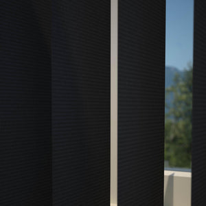 Plain PVC Vertical Blind Black