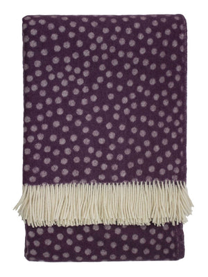 Emma Bridgewater Polka Throw Mulberry