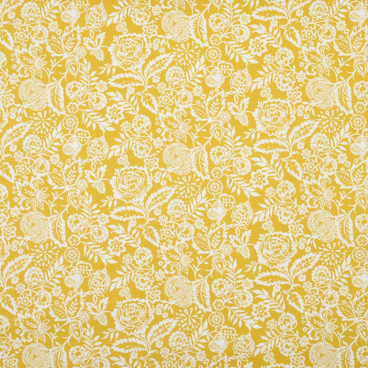 Polly Curtain Fabric in Yellow | Terrys Fabrics UK