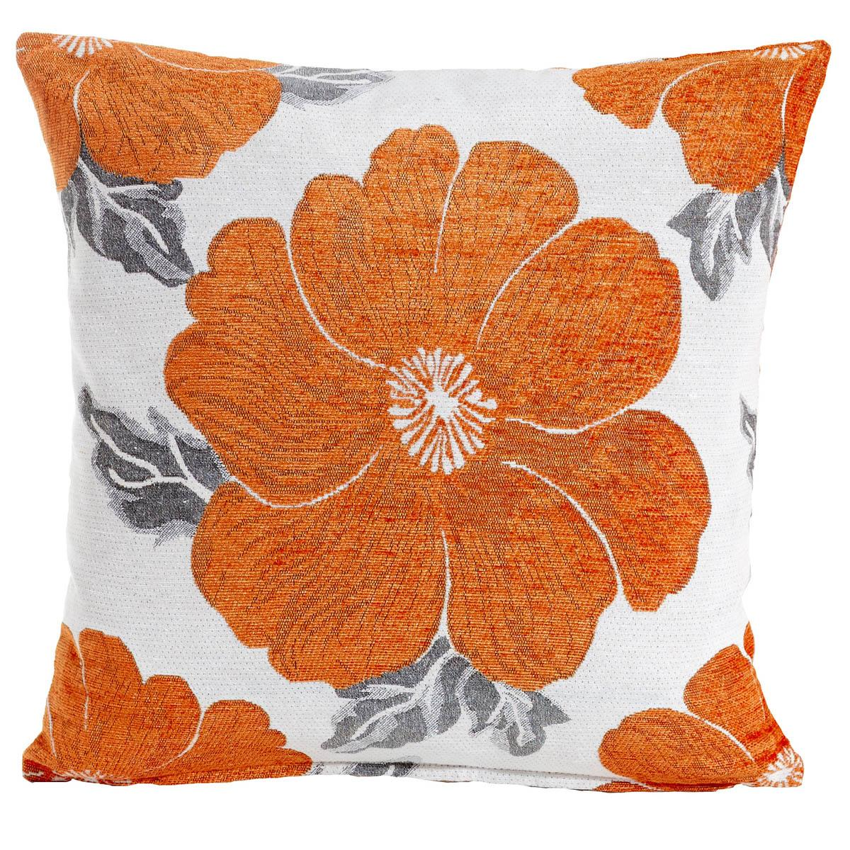 Alan Symonds Cushions And Throws Poppy Chenille CC Orange Picture
