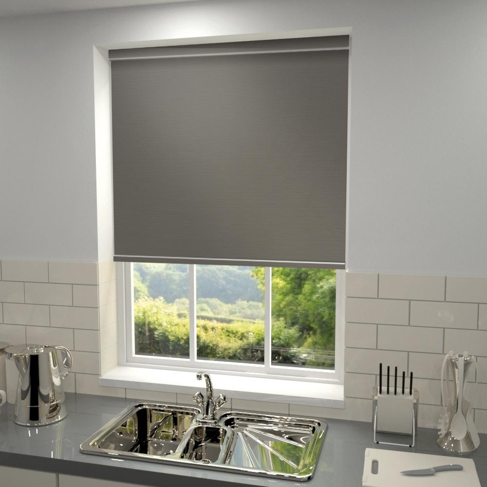 Harris Parts Core Primary Blackout Roller Blind Granite Picture