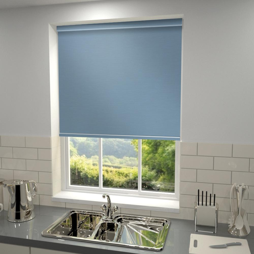 Harris Parts Core Primary Blackout Roller Blind Sky Blue Picture