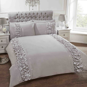 Provence Embellished Bedding Set Grey