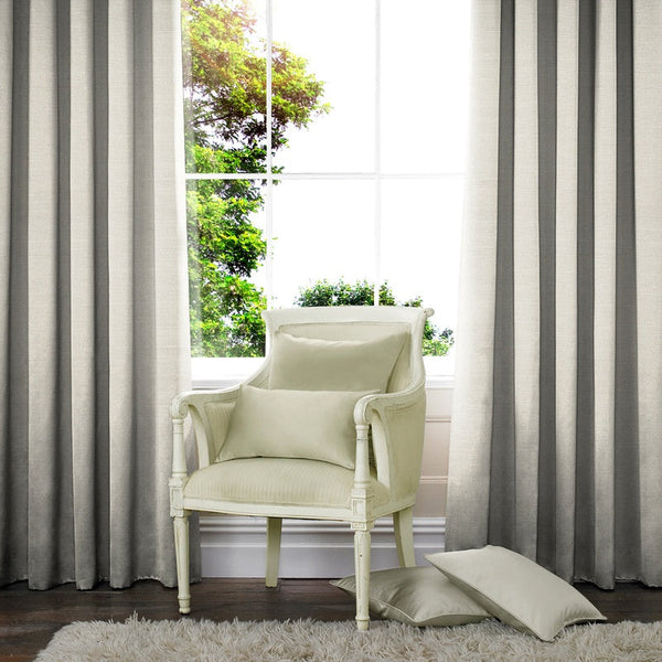 Raphia Made to Measure Curtains Dove