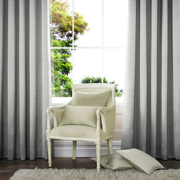 Raphia Made to Measure Curtains Silver