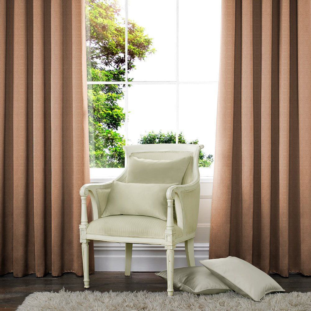 Palm Made to Measure Curtains Taupe