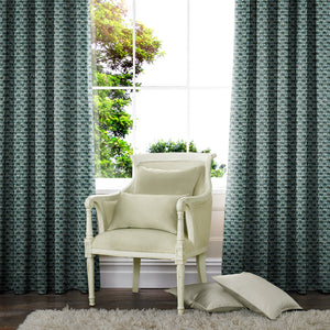 Palm Made to Measure Curtains Teal