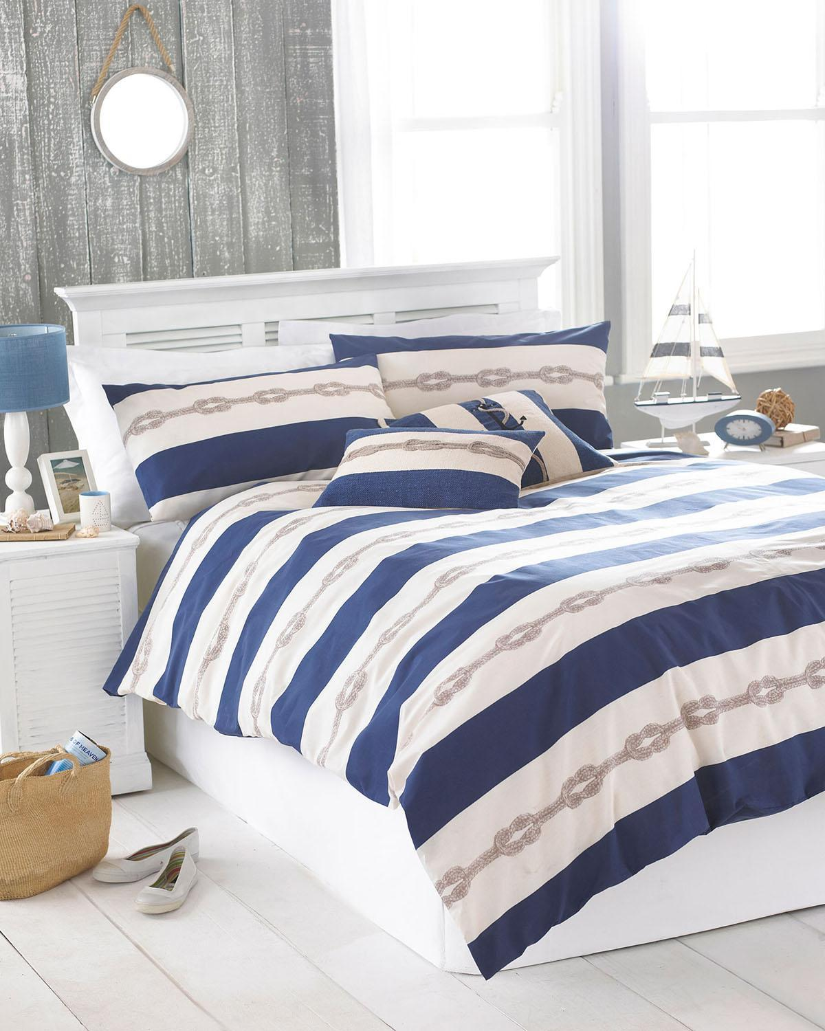 Riva Bedding Reef Printed Bedding Set Blue Picture