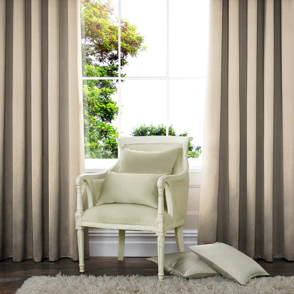 Rib Plain Made to Measure Curtains Porcelain