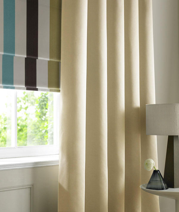 Rib Plain Made to Measure Curtains Ivory