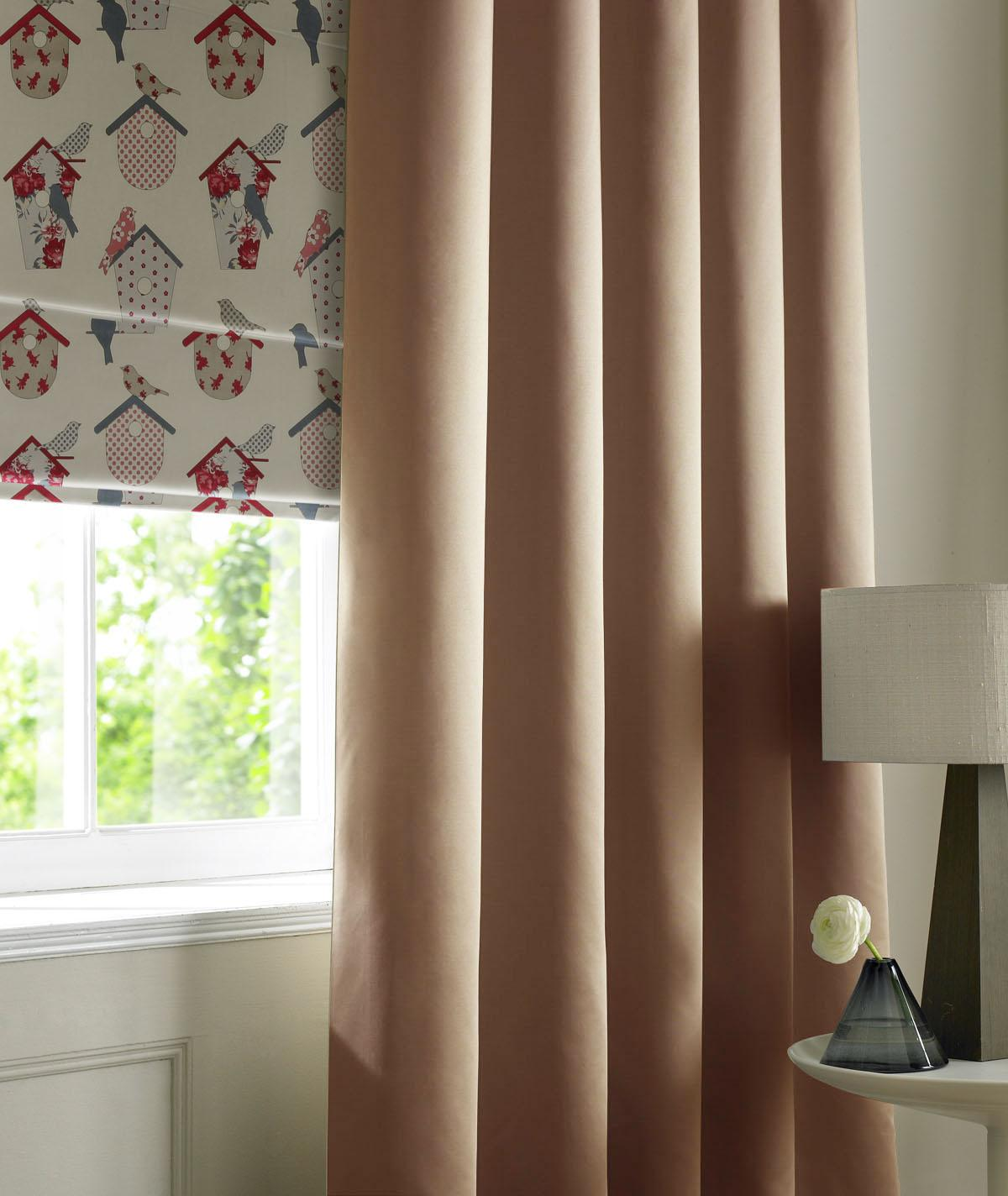Illuminate Rib Plain Made to Measure Curtains Otter Picture
