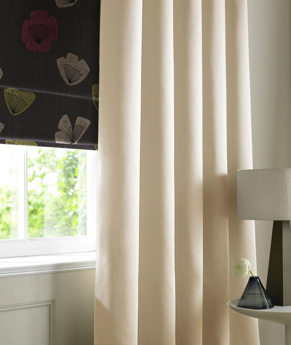 Rib Plain Made to Measure Curtains Vanilla