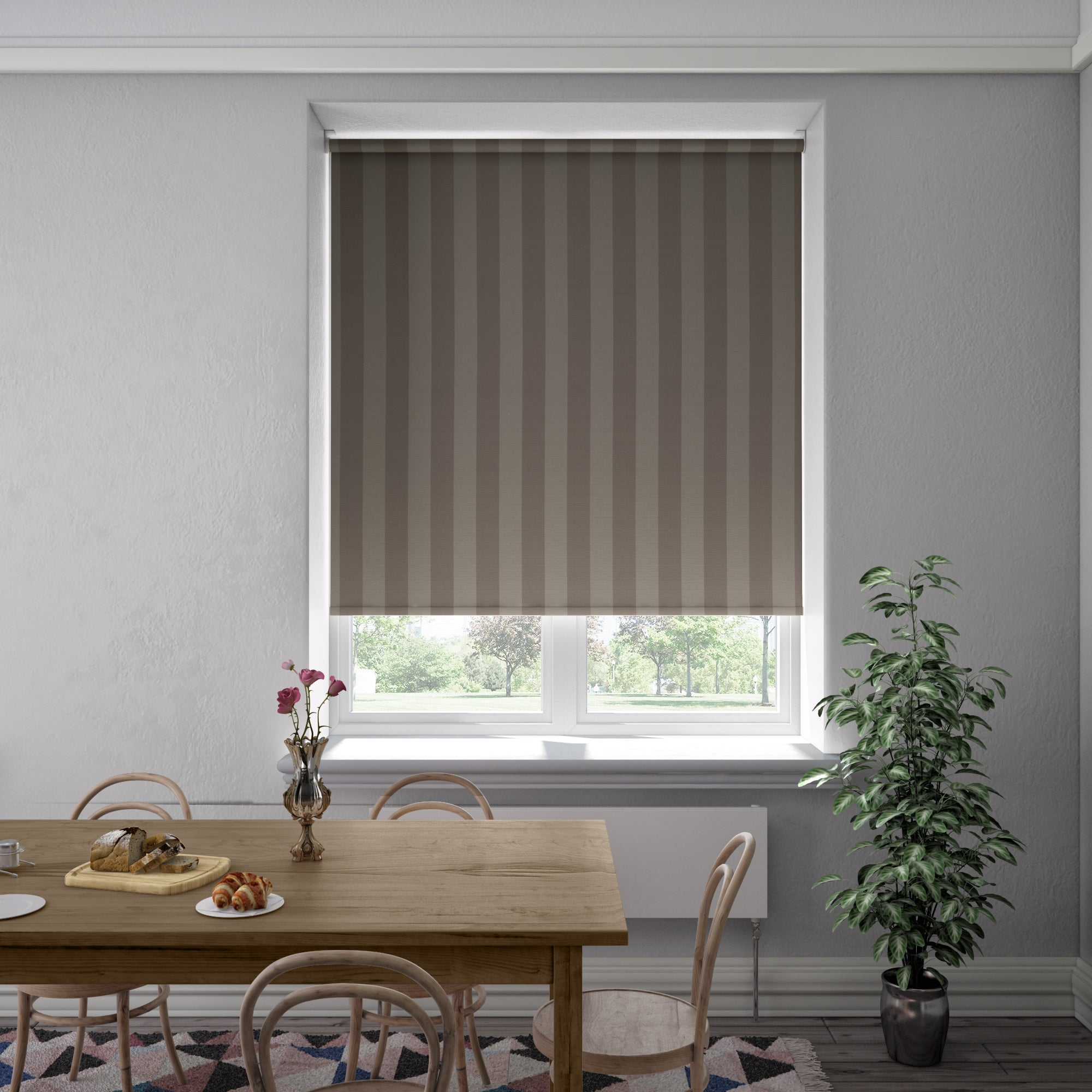 Harris Parts Blinds Rib Stripe Blackout Roller Blind Vassa Picture