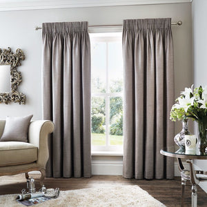 Rimini Ready Made Lined Curtains Grey
