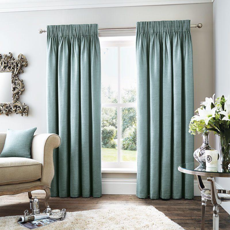 J Rosenthal Ready Made Curtains Rimini Ready Made Lined Curtains In Teal Picture