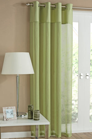 Rio Eyelet Voile Panel Lime