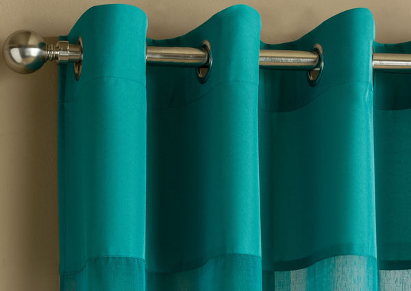 Rio Eyelet Voile Panel Teal