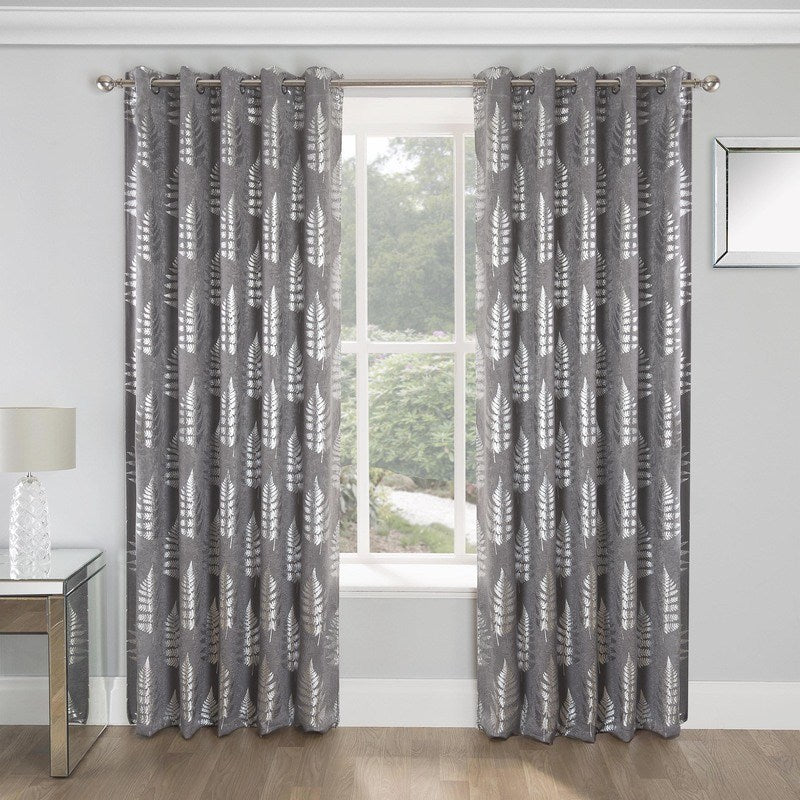 Tyrone Ready Made Curtains Ritz Blockout Ready Made Eyelet Curtains Grey Picture