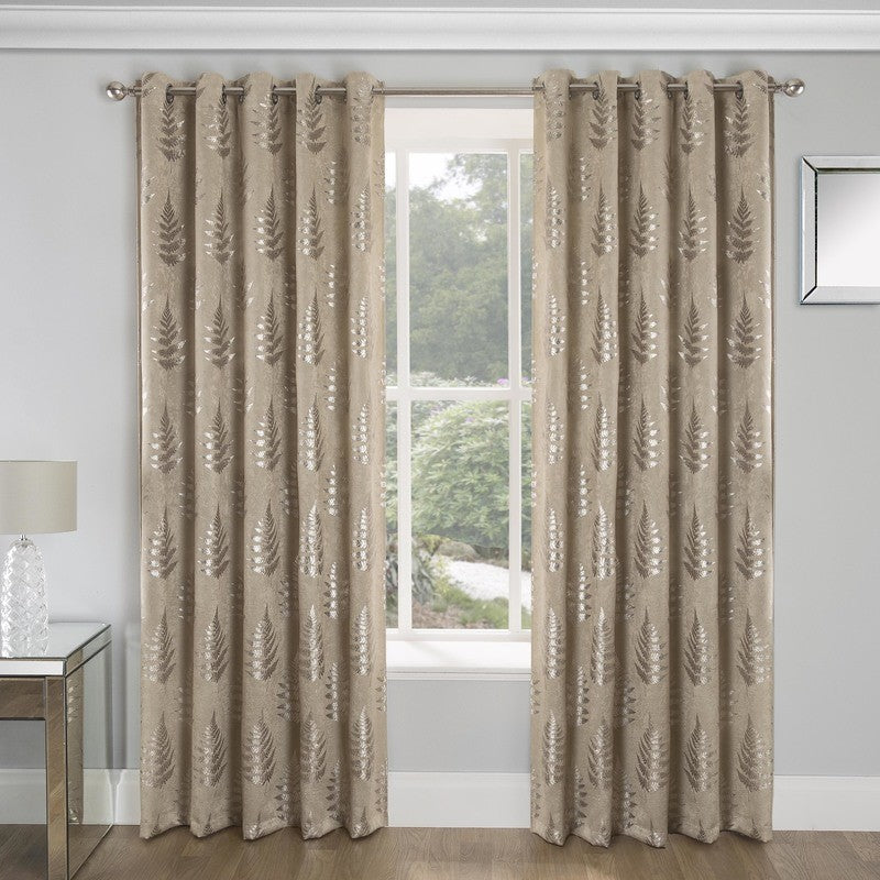 Tyrone Ready Made Curtains Ritz Blockout Ready Made Eyelet Curtains Natural Picture