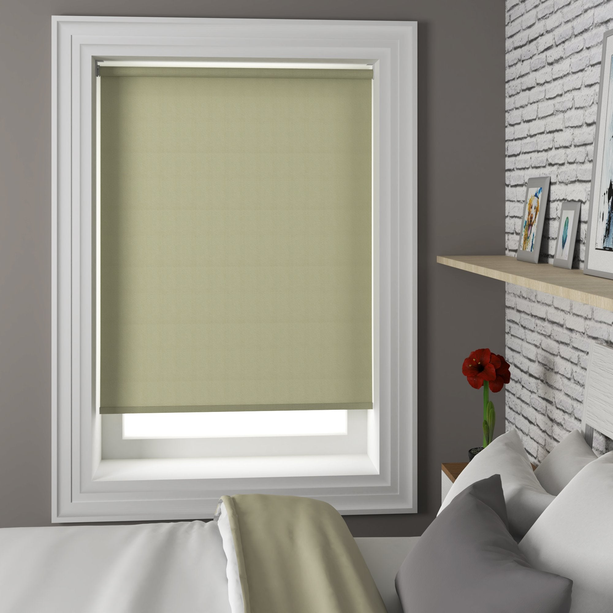 Harris Parts Blinds Riviera Roller Blind Pesto Picture