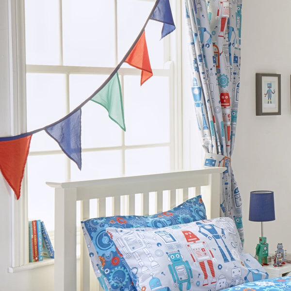 Robot Bedding Set Blue