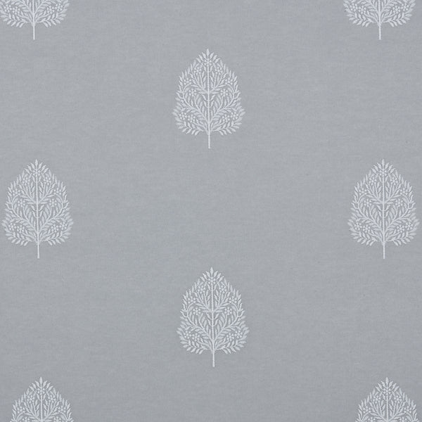 Rookery Curtain Fabric Silver