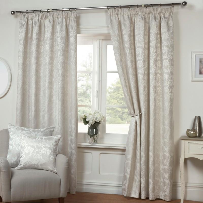 AWC Ready Made Curtains Rosa Ready Made Lined Curtains Oyster Picture