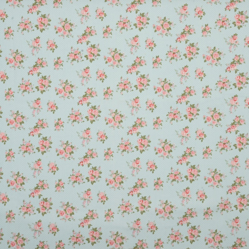Roll End Fabrics Rose Bowl Roll End 3.75m Blue Picture