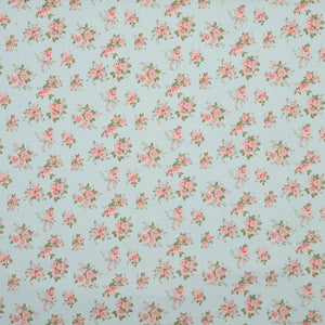 Rose Bowl Curtain Fabric Blue