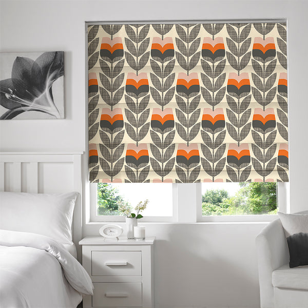 Orla Kiely - Rose Bud Roman Blind Orange