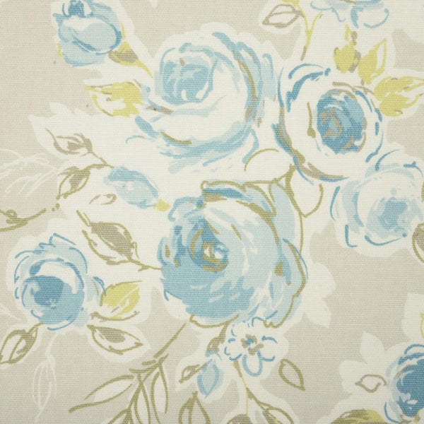 Rose Garden Curtain Fabric Mineral