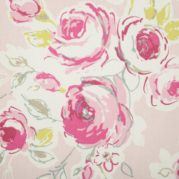Rose Garden Curtain Fabric Pink