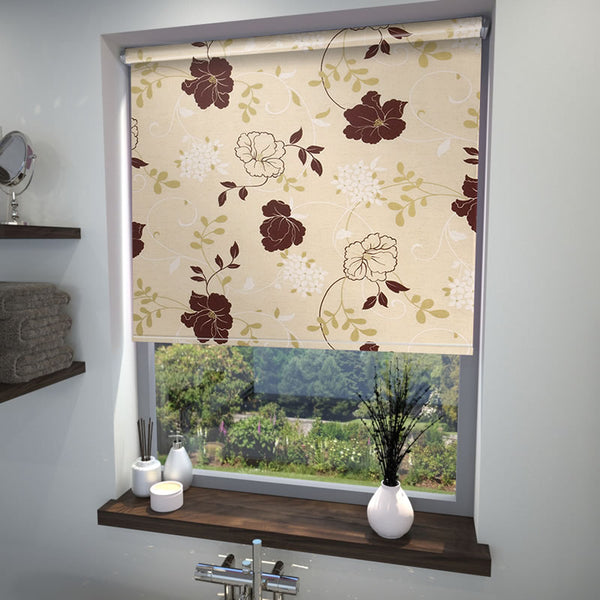 Rose Garden Roller Blind Mulberry