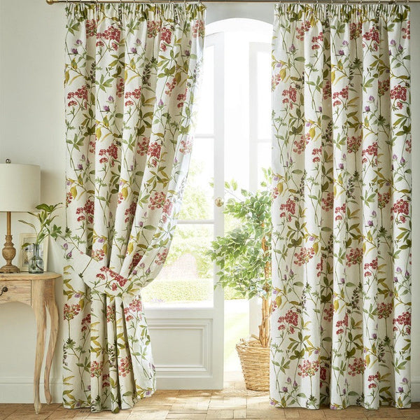 Rosemary Ready Made Lined Curtains Raspberry