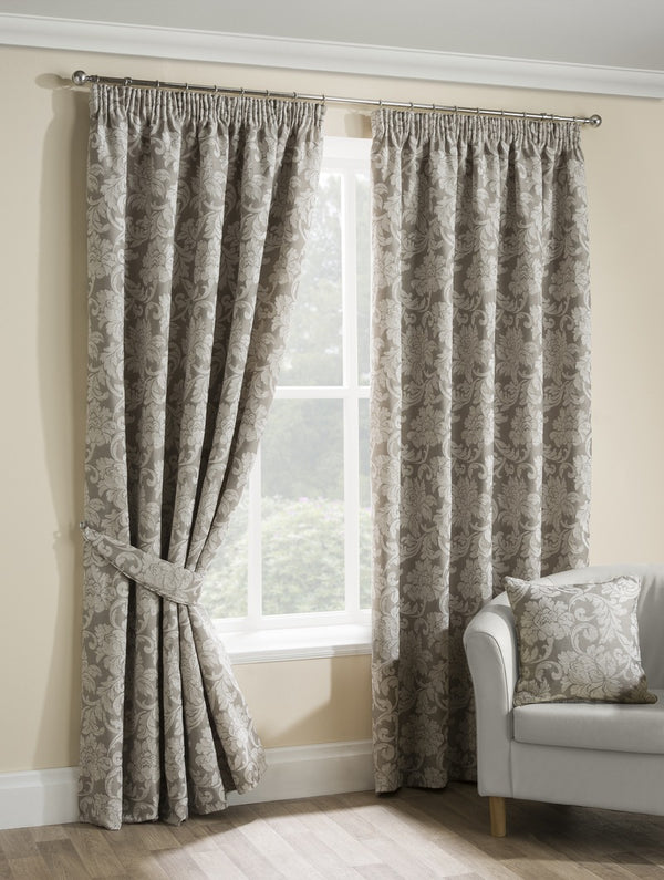 Salisbury Ready Made Lined Curtains Champagne