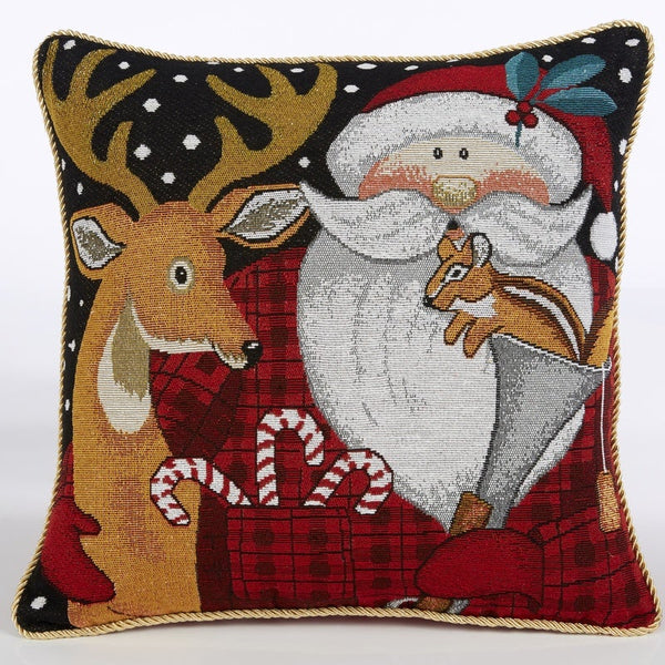 Santa and Friends Tapestry Christmas C/Cover Multi